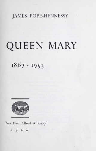 Queen Mary, 1867-1953.