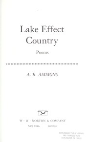 Lake effect country : poems PDF