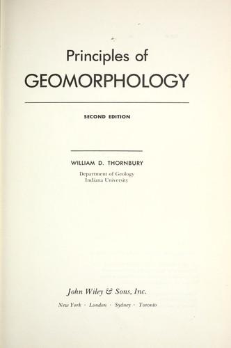 Principles of geomorphology