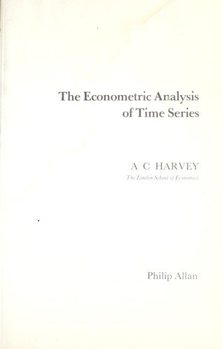 The econometric analysis of time series