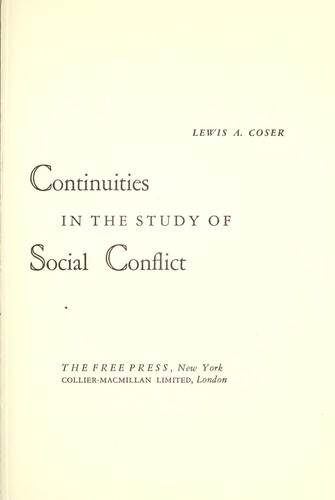 Continuities in the study of social conflict