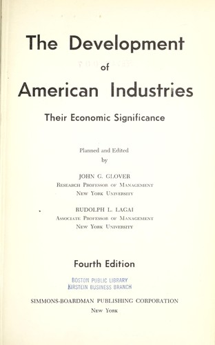 Download The development of American industries