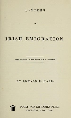 Download Letters on Irish emigration.