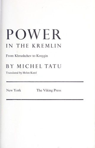 Download Power in the kremlin