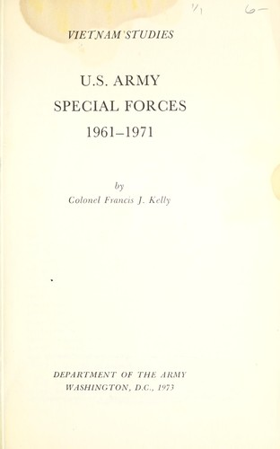 Download U.S. Army Special Forces, 1961-1971