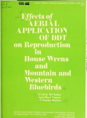 Download Effects of aerial application of DDT on reproduction in house wrens and mountain and western bluebirds