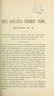 Inspection of glassware used by creameries and butter factories to determine the value of cream and milk PDF