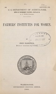 Farmers' Institutes for Women PDF