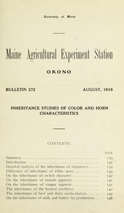 Inheritance studies of color and horn charactersitics PDF
