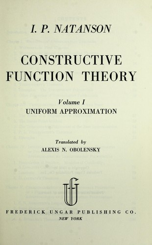 Download Constructive function theory