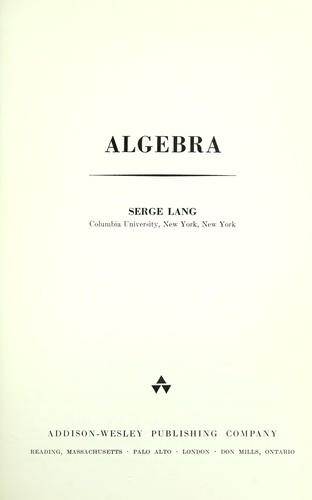 Download Algebra.