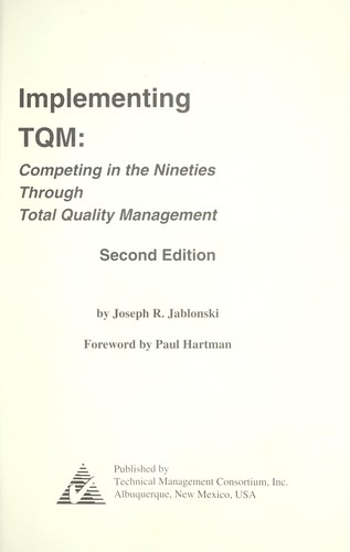 Download Implementing TQM