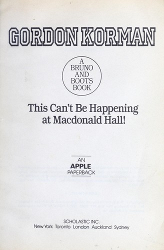 Download This can't be happening at Macdonald Hall!