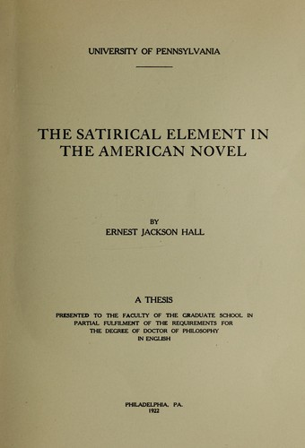 Download The satirical element in the American novel