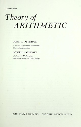 Download Theory of arithmetic