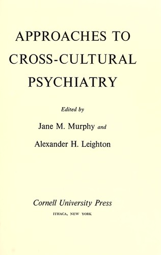 Download Approaches to cross-cultural psychiatry.