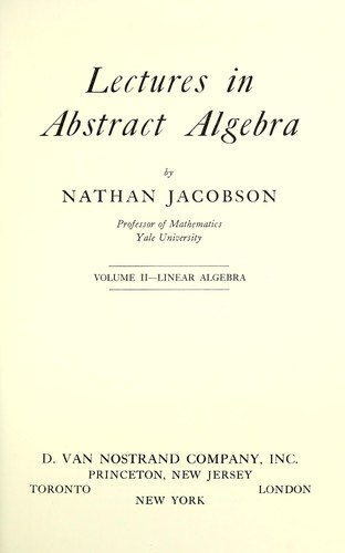 Download Lectures in abstract algebra.
