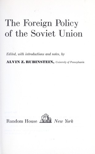 Download The foreign policy of the Soviet Union