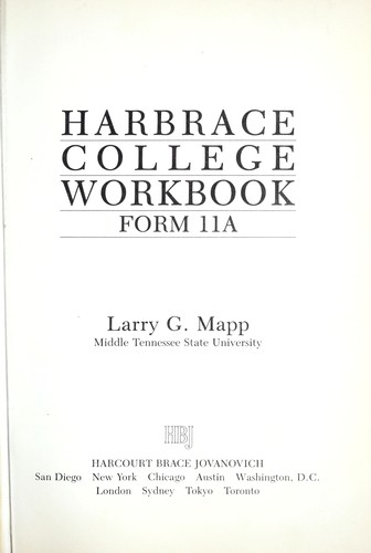 Harbrace College Workbook