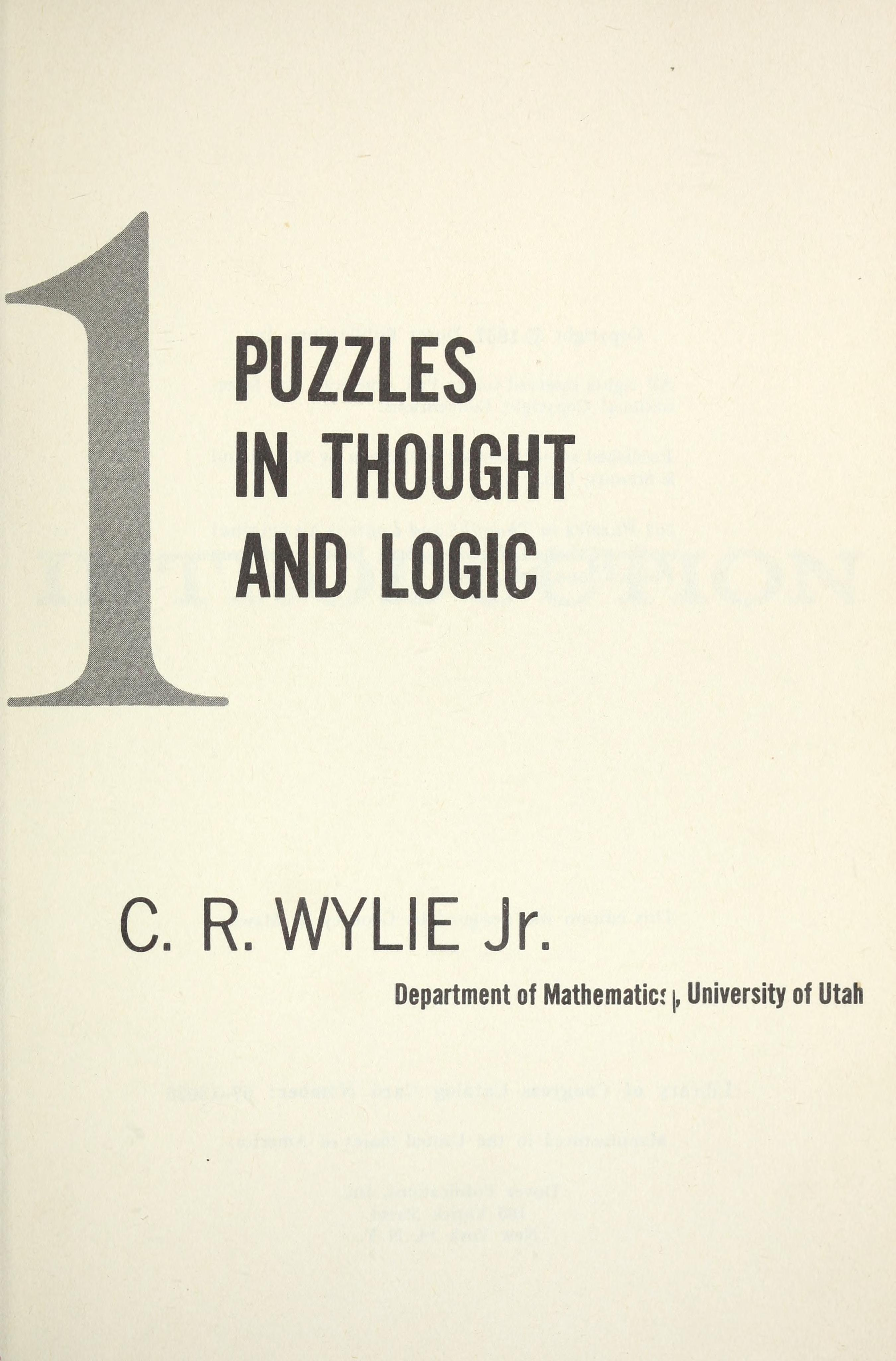 eBook 101 puzzles in thought and logic download | online | audio