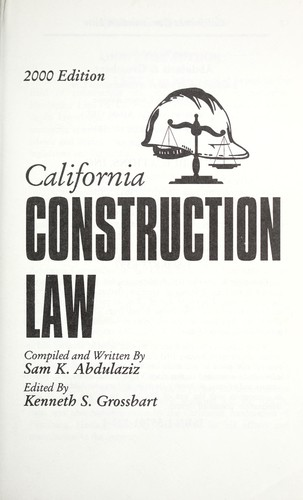 Download California construction law