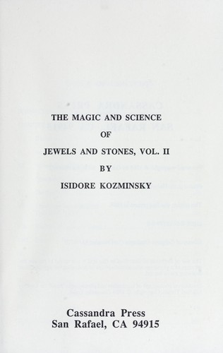 Download The magic and science of jewels and stones