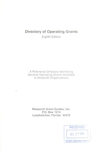 Download Directory of Operating Grants