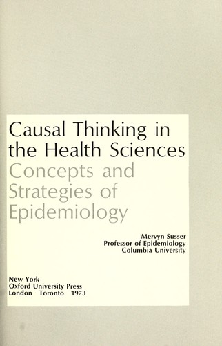 Download Causal thinking in the health sciences