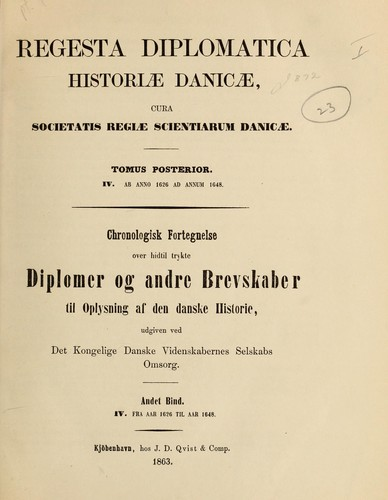 Download Regesta diplomatica historiae danicae.