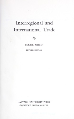 Interregional and international trade