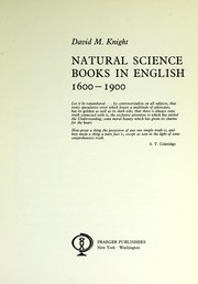 Natural science books in English, 1600-1900 PDF