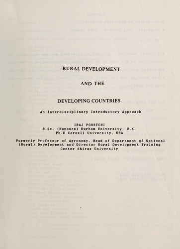 Download Rural development and the developing countries
