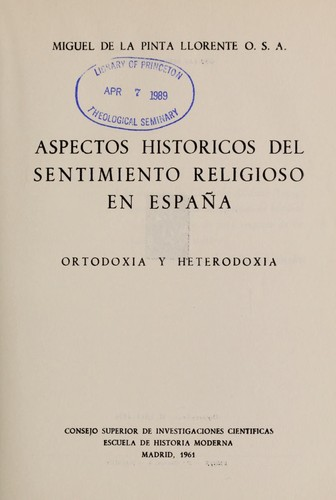 Download Aspectos históricos del sentimiento religioso en España