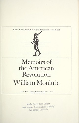 Memoirs of the American revolution.