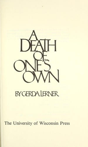Download A Death of One's Own