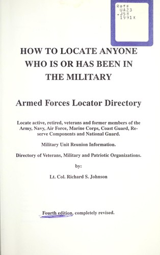 How to locate anyone who is or has been in the military