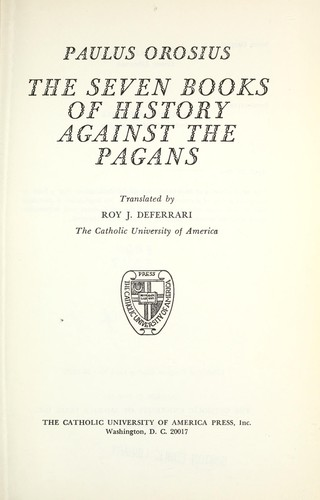 Download The seven books of history against the pagans.