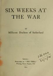 Six weeks at the war PDF