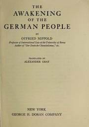The awakening of the German people PDF