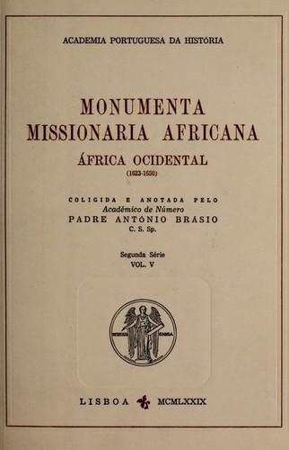 Monumenta missionaria africana.