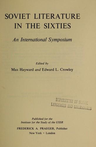 Download Soviet literature in the sixties