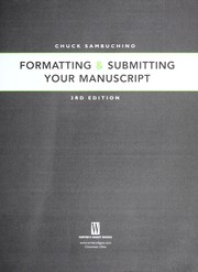 Formatting & submitting your manuscript PDF