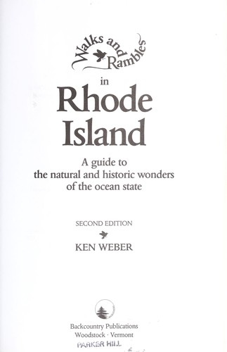 Download Walks and rambles in Rhode Island