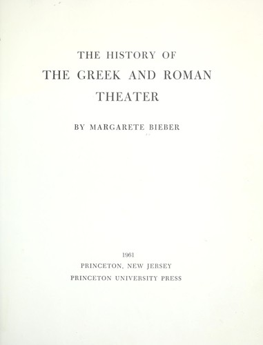 The history of the Greek and Roman theater.