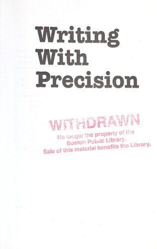 Download Writing with precision