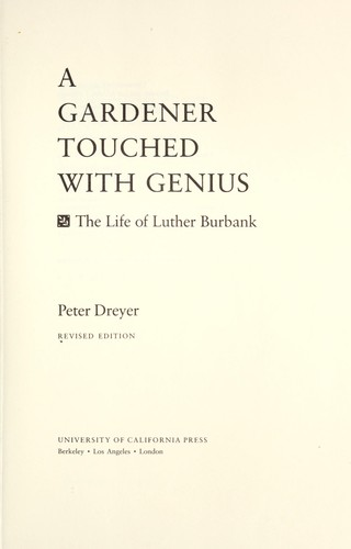 Download A gardener touched with genius