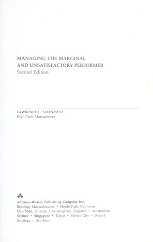 Download Managing themarginal and unsatisfactory performer
