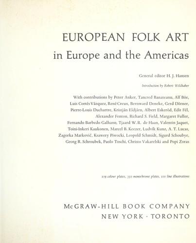 European folk art in Europe and the Americas.
