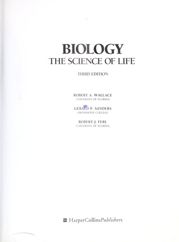 Biology, the science of life