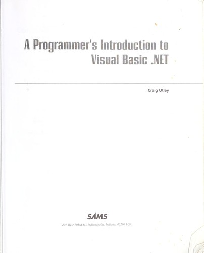 The programmer's introduction to Visual Basic.NET